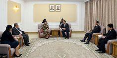 조선외무상이 몽골 대외관계성대표단을 만났다