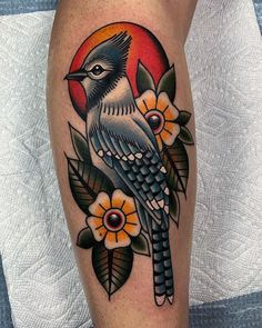 Blue Jay by Phil DeAngulo at Memorial Brooklyn (Brooklyn NY) – tattoo sleeve Blue Jay Tattoo, Bluebird Tattoo, Bird Tattoo Men, Quail Tattoo, Tattoo Guys, Bird Tattoos, Dragon Tattoos, Simple Tattoo With Meaning, Tattoos With Meaning