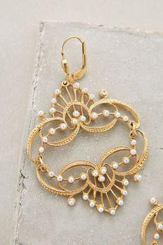 Pearled Chandelier Earrings - anthropologie.com