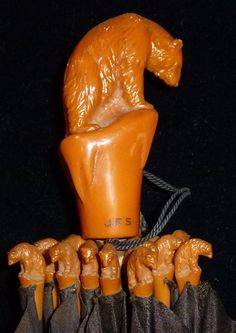 Bakelite Umbrella (handle and ribs) - My Spirit animal is the Bear - this is, without a doubt, my favourite umbrella of all time!