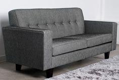 Napoli 3 Seater Sofa with Button Back Cushions | Kiwi Bed Company Kiwi Bed Company