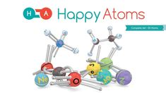 Happy Atoms - Digital and Physical Chemistry Set Chemistry Set, Physical Chemistry, Chemical Nomenclature, Atom Model, Chemical Change, Chemical Reactions, Atoms, Student Learning, Investigations