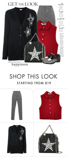 """Get The Look"" by nightowl59 ❤ liked on Polyvore featuring MSGM, Chicnova Fashion, Yves Saint Laurent, STELLA McCARTNEY, WALL, Alexander Wang and polyvoreeditorial"