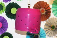 Colander reused as light lamp! #doridesign #art #creativity #reuse #diy #recycle