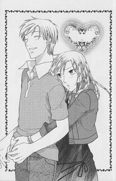 """Fruits Basket"" - Arisa and Kureno. Still not sure how I feel about the two of them. . . . But this is such a sweet picture."