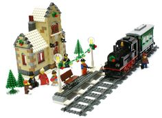 Winter Village Train Station | Flickr - Photo Sharing!
