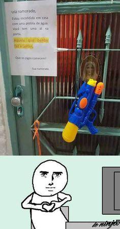 Kkk q medo! Memes Status, Memes Humor, Otaku Meme, Best Memes, Cringe, Funny Images, I Laughed, Haha, Nerd