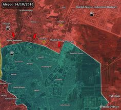 #Aleppo situation MAP after SAA &allies progress today (Tall Asfar/Sawmills/ Majbal Area).