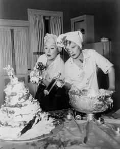 Lucille Ball and Vivian Vance – two of our very favorite funny women – made an unforgettable pair on I Love Lucy. I Love Lucy, Love Her, Vivian Vance, Golden Age Of Hollywood, Old Hollywood, Hollywood Couples, Hollywood Party, Best Female Comedians, Best Sitcoms Ever