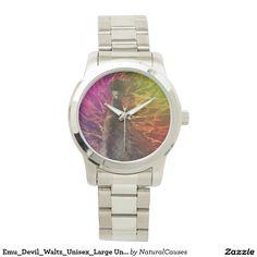 Emu_Devil_Waltz_Unisex_Large Unisex Silver Watch