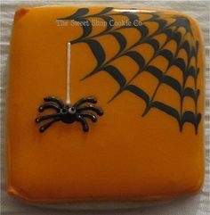 Dangle Spider Web Cookies 2 dozen by TheSweetShopCookieCo on Etsy, $47.90