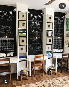 17 homework station ideas that will earn an A from your kids - IKEA Kids Homework Room, Kids Homework Station, Homework Desk, Billy Ikea Hack, Hack Ikea, Ikea Billy Bookcase Hack, Billy Bookcases, Ikea Shelves, Billy Oxberg