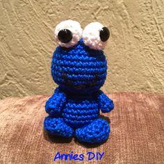 Annies DIY: Amigurumi Krümelmonster häkeln crochet cookie monster