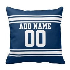 Football Team Jersey with Custom Name Number Pillow