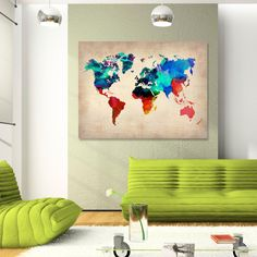 World Map Canvas