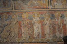 Santa Maria Antiqua, Roma. Affresco della seconda metà del VIII secolo. Santi e dottori della chiesa latina