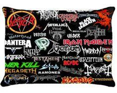 Judas Priest, AC/DC, Metallica, etc Logo Rock Band Custom Pillow Case $11.99 USD monggobuy