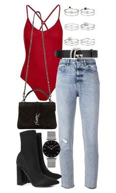 """Untitled #21347"" by florencia95 ❤ liked on Polyvore featuring Topshop, Golden Goose, Gucci, Yves Saint Laurent, Boohoo and Miss Selfridge"
