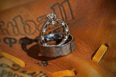 Softball glove with the rings Oh my gosh yes!!! Since I'm a softball player this is perfect!