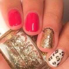 Mix N Match Leopard print inspired Manicure nail art using OPI, China Glaze and Nina Ultra Pro
