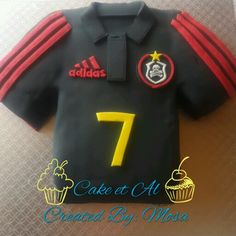 d05de9b1df0 Tshirt cake. Orlando Pirates. South African Team 1st Attempt. .. not bad.