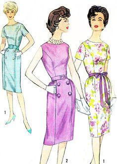 1960s Dress Pattern Simplicity 3874 Princess Seam by paneenjerez, $12.00