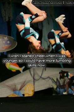 Yup. I'm going put my kids through cheer early so that they learn the skills young