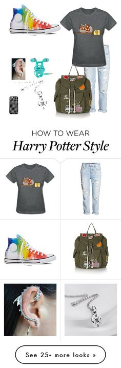 """Harry Potter Geek"" by estuck on Polyvore featuring Converse, Pusheen and Topshop"