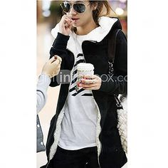 Women's Zip up Fleece Lined Hoodie Thick Coat