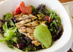 It does not get fresher than our MAMA's SALAD! Made with roasted veggies, roasted corn, tomato, avocado, and your choice of chicken, steak, or shrimp! Yum!