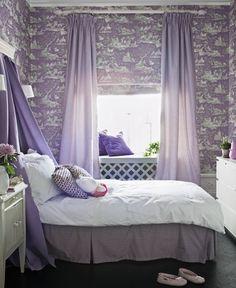 roomantic wallpaper purple bedroom decoration