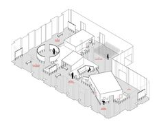 This is a Voice, Wellcome Trust — Casper Mueller Kneer Ltd Architects — London & Berlin Architecture Visualization, Landscape Architecture, Interior Architecture, Axonometric View, Architects London, Concept Diagram, Design Museum, Portfolio, Autocad
