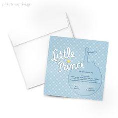 Προσκλητήριο Βάπτισης Little Prince / Μικρός Πρίγκιπας Invitations, Save The Date Invitations, Invitation