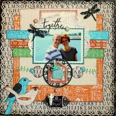 Lay-out using gorgeous Graphic 45 Artisan Style papers