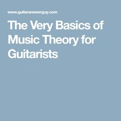 Music theory for guitarists. In this primer, you'll learn the basic music theory behind Major and minor scales, chords, and key signatures. Basic Music Theory, Music Theory Guitar, Guitar Songs, Guitar Chords, Guitar Tips, Ukulele, Guitar Scales, Jazz Guitar Lessons, Guitar Lessons For Beginners