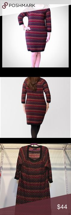 06a463481d7 Plus size Lane Bryant sexy shimmer sweater dress Plus size Lane Bryant  multi colored Geometric sweater