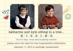 """Adorable """"Save-the-Date"""""""