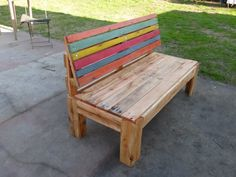 Pallet Outdoor Sofa With Comfort Back   Pallet Furniture