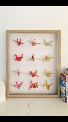 cadre origami b b d coration chambre enfant animaux fleur escargot n nuphar vert mint bleu. Black Bedroom Furniture Sets. Home Design Ideas