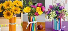 Vasos de flores artesanais e criativos 012