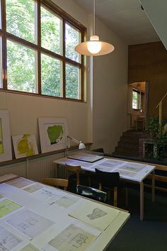 munkkiniemi - aalto house Alvar Aalto, Space Architecture, Helsinki, Interior Inspiration, Building, Artist Studios, Work Spaces, Finland, Houses