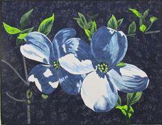 Dogwood Blossoms II Original Art Quilt