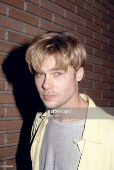 Actor Brad Pitt attends the 'My Own Private Idaho' Beverly Hills Premiere on October 11, 1991 at the Academy Theatre in Beverly Hills, California.