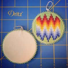 Native beaded earrings  by Joan and Randolph from Fort Hall