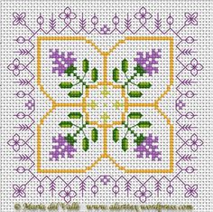 25 fresh Spring inspired cross stitch patterns: Floral Biscornu