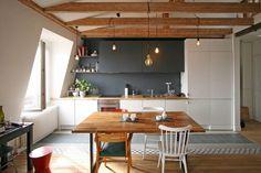 appartement epure bois industriel