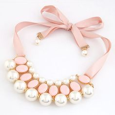 Fashion Multilayer Big Simulated Pearl Choker Statement Necklace for Women Pearl Bib Necklaces Pendants with Crystal Rhinestone