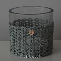 Haak by Daphne: Lentelicht Crochet Home, Knit Or Crochet, Royal Christmas, Chunky Wool, Beautiful Crochet, Rosettes, Handmade Crafts, Crochet Patterns, Jar