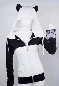 wonderful panda hoodie, to help you truly embody your favorite animal. This wonderful panda hoodie, to help you truly embody your favorite animal. Mode Outfits, Fashion Outfits, Womens Fashion, Kawaii Fashion, Cute Fashion, Kids Fashion, Mode Style, Style Me, Mode Kawaii