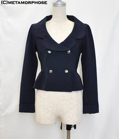 Double-breasted Jacket (Solid Color)